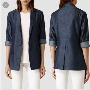 Allsaints chia roe relaxed blazer jacket sz 6